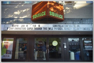 Constellation Theatre's marquee at Source