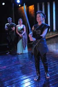 Henry as Itys with parents Procne and Tereus, played by Dorea Schmidt and Matthew Schleigh